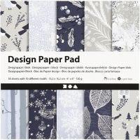 Design papierblok, 15,2x15,2 cm, 120 gr, blauw, grijs, 50 vel/ 1 doos