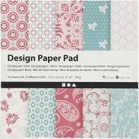Design papierblok, 15,2x15,2 cm, 120 gr, roze, 50 vel/ 1 doos