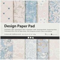 Design papierblok, 120 gr, roze, 50 vel/ 1 doos