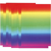 Regenboogpapier, A4, 210x297 mm, 180 gr, 10 vel/ 1 doos