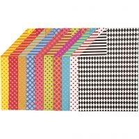 Bedrukt karton, A4, 210x297 mm, 250 gr, diverse kleuren, 200 div vellen/ 1 doos