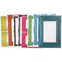 Lijsten, afm 26,2x18,5 cm, sterke kleuren, 16 div vellen/ 1 doos