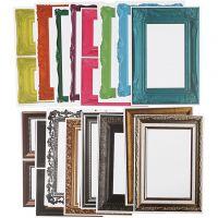 Lijsten, afm 26,2x18,5 cm, diverse kleuren, 64 div vellen/ 1 doos