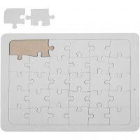 Puzzel, afm 15x21 cm, wit, 1 stuk