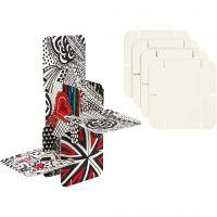 Puzzel constructie karton, afm 9,3x9,3 cm, wit, 200 stuk/ 1 doos
