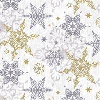 Servetten, Delicate zilveren sterren, afm 33x33 cm, 20 stuk/ 1 doos