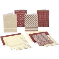 Kaarten met envelop, afmeting kaart 10,5x15 cm, 220 gr, 16 stuk/ 1 doos