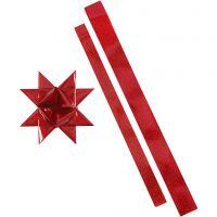 Sterstroken, L: 86+100 cm, d: 11,5+18,5 cm, B: 25+40 mm, rood, rood glitter, 16 stroken/ 1 doos