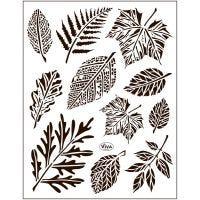 Silicone stempels, bladeren, 14x18 cm, 1 vel