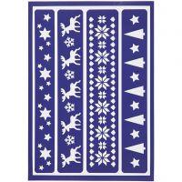 Flexibel sjabloon, kerst randen, 21x14,8 cm, 1 stuk