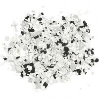 Terrazzo vlokken, zwart, 90 gr/ 1 Doosje