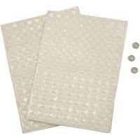 Sillicone Dots, H: 1,5 mm, d: 8 mm, 300 stuk/ 1 doos