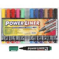 Power Liner, lijndikte 1,5-3 mm, diverse kleuren, 12 stuk/ 1 doos