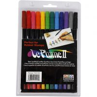Le Plume II Markers, sterke kleuren, 12 stuk/ 1 doos
