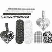 Gevlochten harten, afm 14,5x10 cm, 120 gr, 8 set/ 1 doos