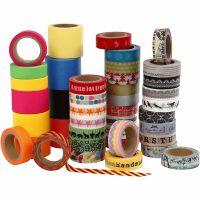 Masking tape, B: 15+30+40 mm, 51x10 m/ 1 doos