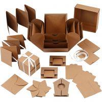 Explosion box, afm 7x7x7,5+12x12x12 cm, naturel, 1 stuk