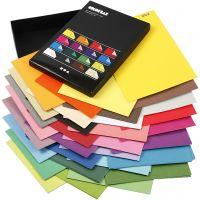 Color Bar karton, A4, 210x297 mm, 250 gr, diverse kleuren, 16x10 vel/ 1 doos