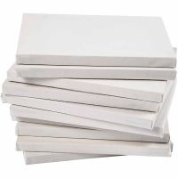 Gespannen canvas, diepte 1,6 cm, A4, afm 21x29,7 cm, 280 gr, wit, 40 stuk/ 1 doos