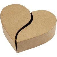 Harten doos, H: 5 cm, d: 16,5 cm, 1 stuk