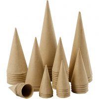 Kegels, H: 8-20 cm, d: 4-8 cm, 50 stuk/ 1 doos