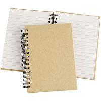 Spiraal gebonden notitieboek, A6, 60 gr, bruin, 1 stuk