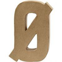 Letter, Ø, H: 20,5 cm, B: 14,5 cm, dikte 2,5 cm, 1 stuk