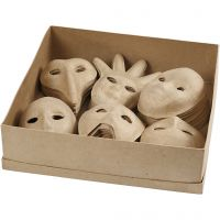Maskers, H: 12-21 cm, 60 stuk/ 1 doos