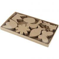 Hangende decoraties, Pasen, H: 5-9 cm, dikte 2 mm, 80 stuk/ 1 doos