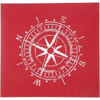 Screen stencil, kompas, 20x22 cm, 1 vel