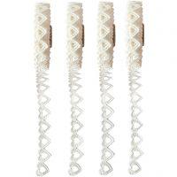 Paper Lace Borders, B: 6 mm, wit, 4x2 m/ 1 doos