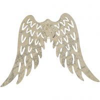 Vleugels, H: 6 cm, B: 7,5 cm, 30 stuk/ 1 doos
