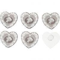 Houten stickers, d: 35 mm, 6 stuk/ 1 doos