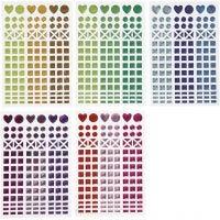 Mozaiek stickers, d: 8-14 mm, 11x16,5 cm, diverse kleuren, 10 vel/ 1 doos