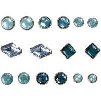 Deco brads, afm 8-18 mm, blauw, 16 stuk/ 1 doos