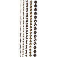 Halve plakparels, afm 2-8 mm, bruin, 140 stuk/ 1 doos