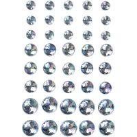 Strasstenen, afm 6+8+10 mm, blauw, 40 stuk/ 1 doos