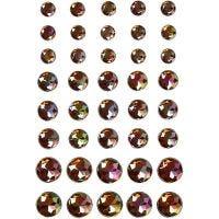 Strasstenen, afm 6+8+10 mm, bruin, 40 stuk/ 1 doos