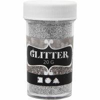 Glitter, zilver, 20 gr/ 1 Doosje