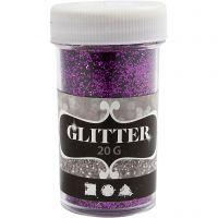 Glitter, paars, 20 gr/ 1 Doosje