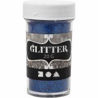 Glitter, blauw, 20 gr/ 1 Doosje