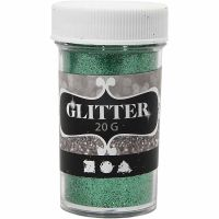 Glitter, groen, 20 gr/ 1 Doosje
