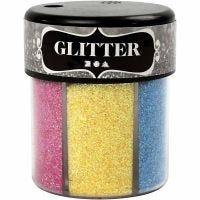 Glitter, diverse kleuren, 6x13 gr/ 1 Doosje