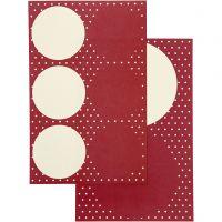 Stickers, d: 4+6,5 cm, 9x14 cm, 4 div vellen/ 1 doos