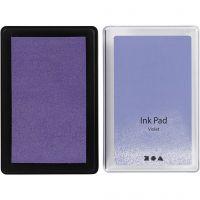 Stempelinkt, H: 2 cm, afm 9x6 cm, violet, 1 stuk