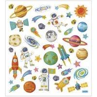 Stickers, ruimte, 15x16,5 cm, 1 vel