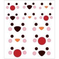 Stickers, pooldieren ogen, 15x16,5 cm, 1 vel
