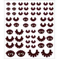 Stickers, ogen, 15x16,5 cm, 1 vel