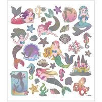Stickers, zeemeerminnen, 15x16,5 cm, 1 vel