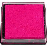 Inktkussen, afm 40x40 mm, roze, 1 stuk